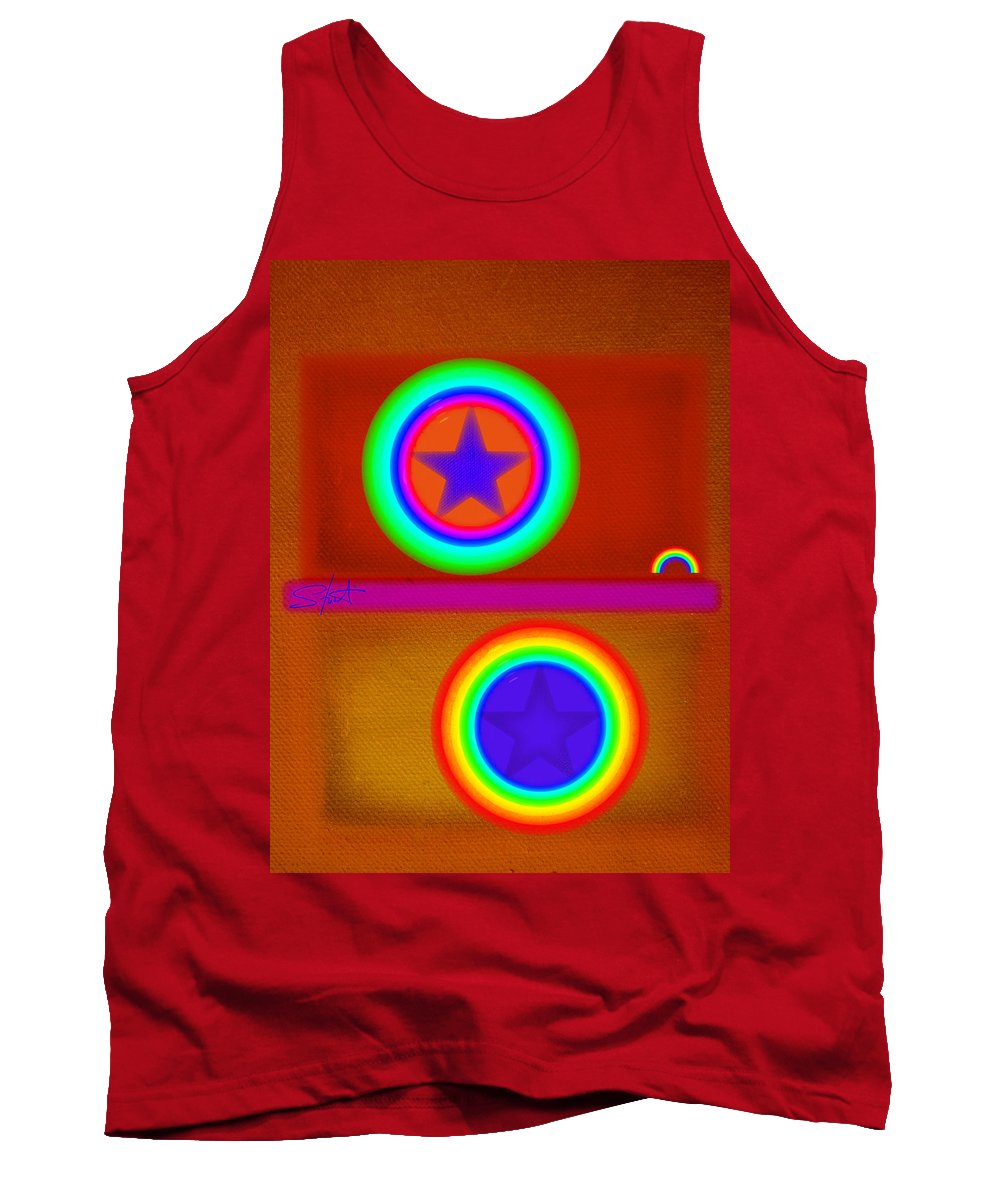 Balance Tank Top featuring the painting Circus by Charles Stuart