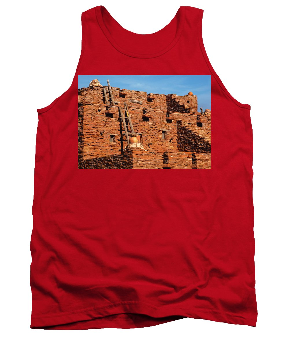 Savad Tank Top featuring the photograph City - Arizona - Pueblo by Mike Savad