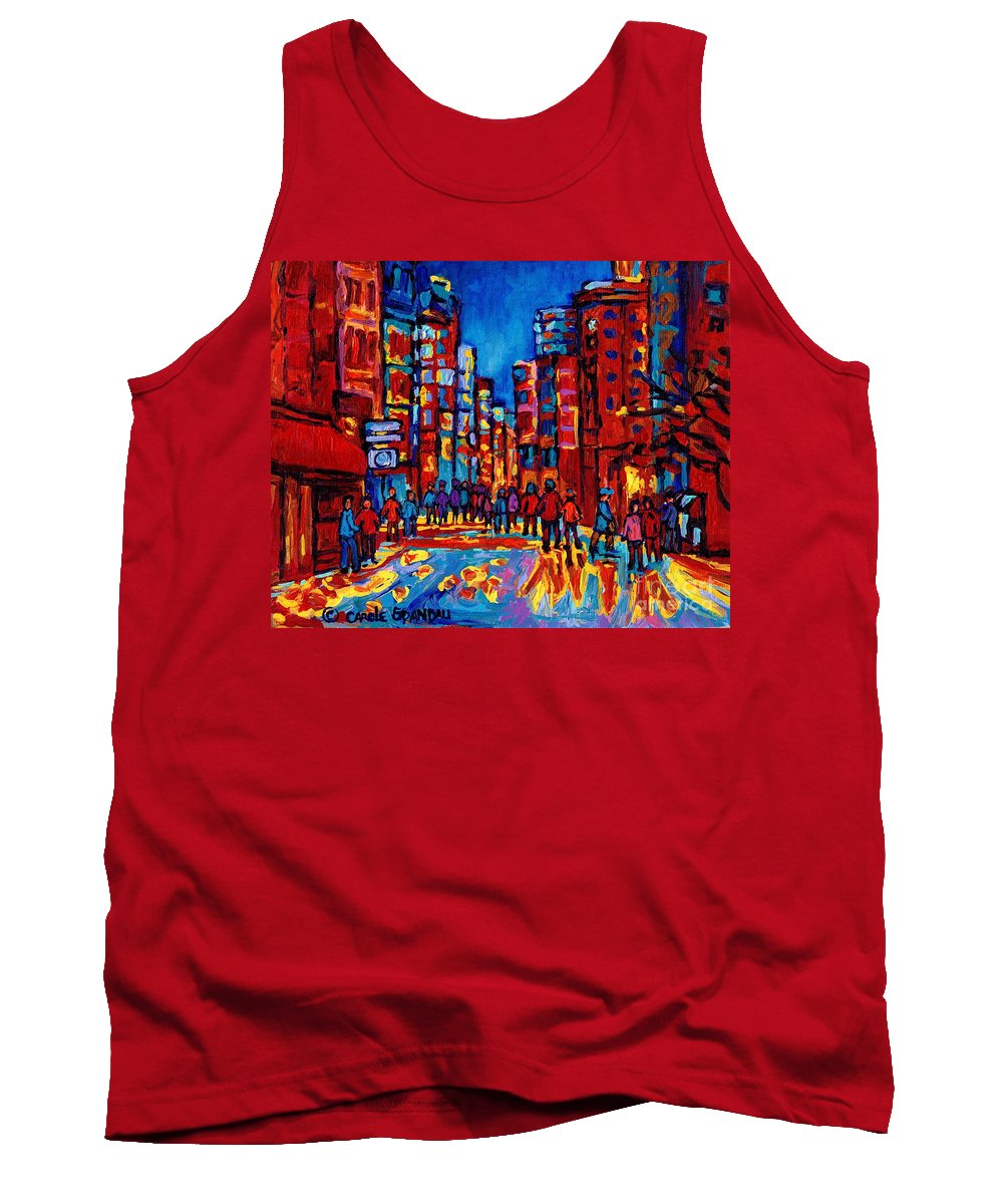 Montreal Tank Top featuring the painting City After The Rain by Carole Spandau