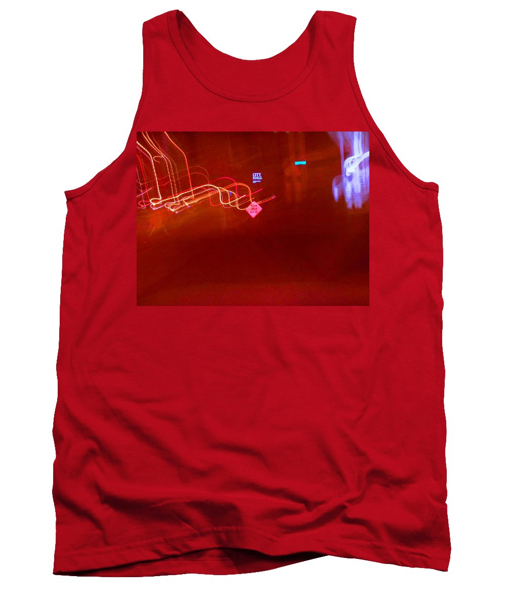 Photograph Tank Top featuring the photograph City Hall by Thomas Valentine