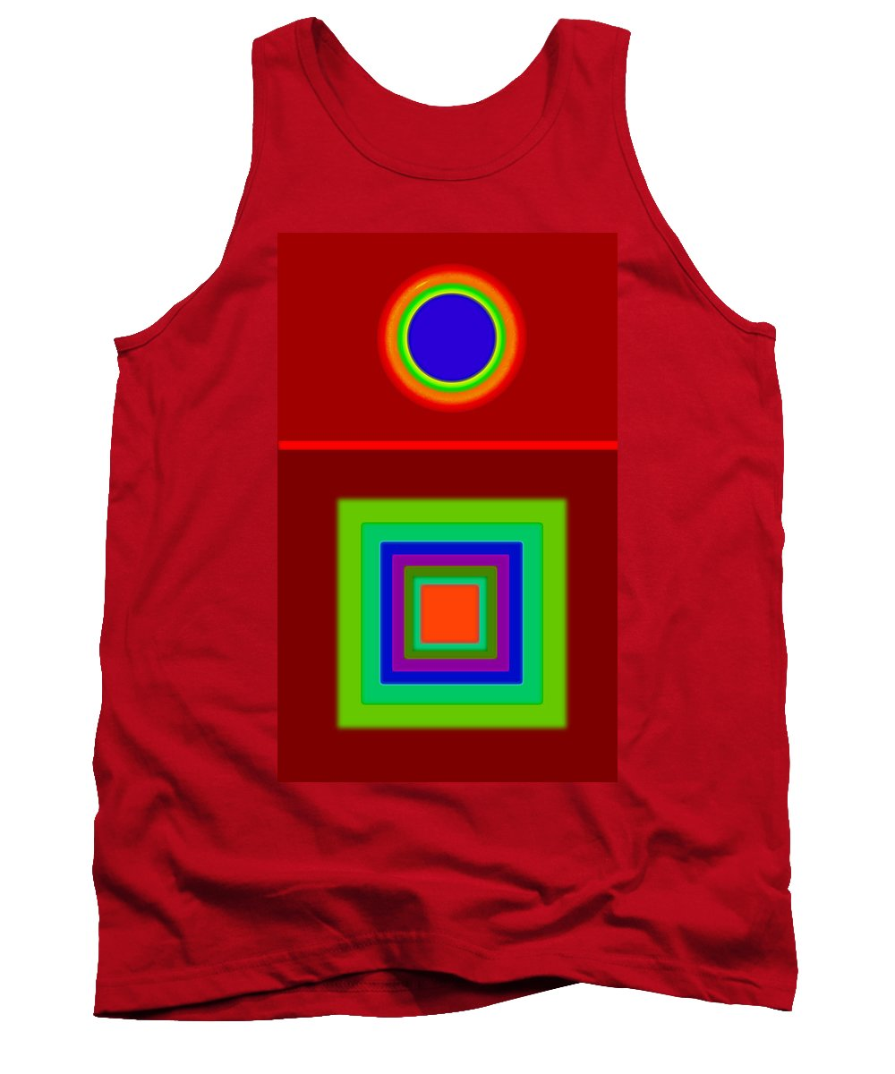 Classical Tank Top featuring the digital art Classic Terracota by Charles Stuart