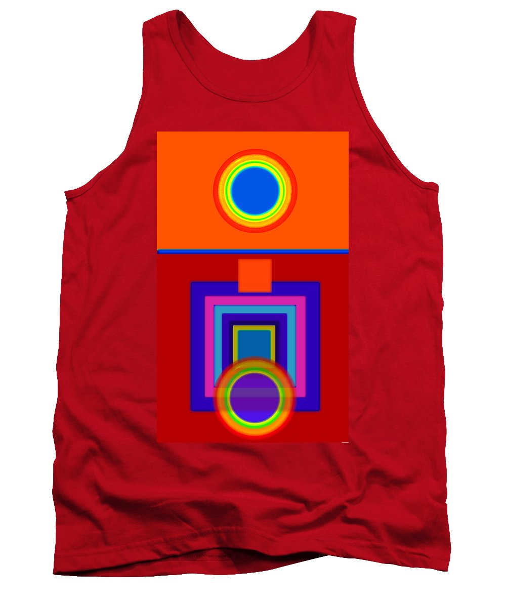 Classical Tank Top featuring the painting Classical Wheels by Charles Stuart