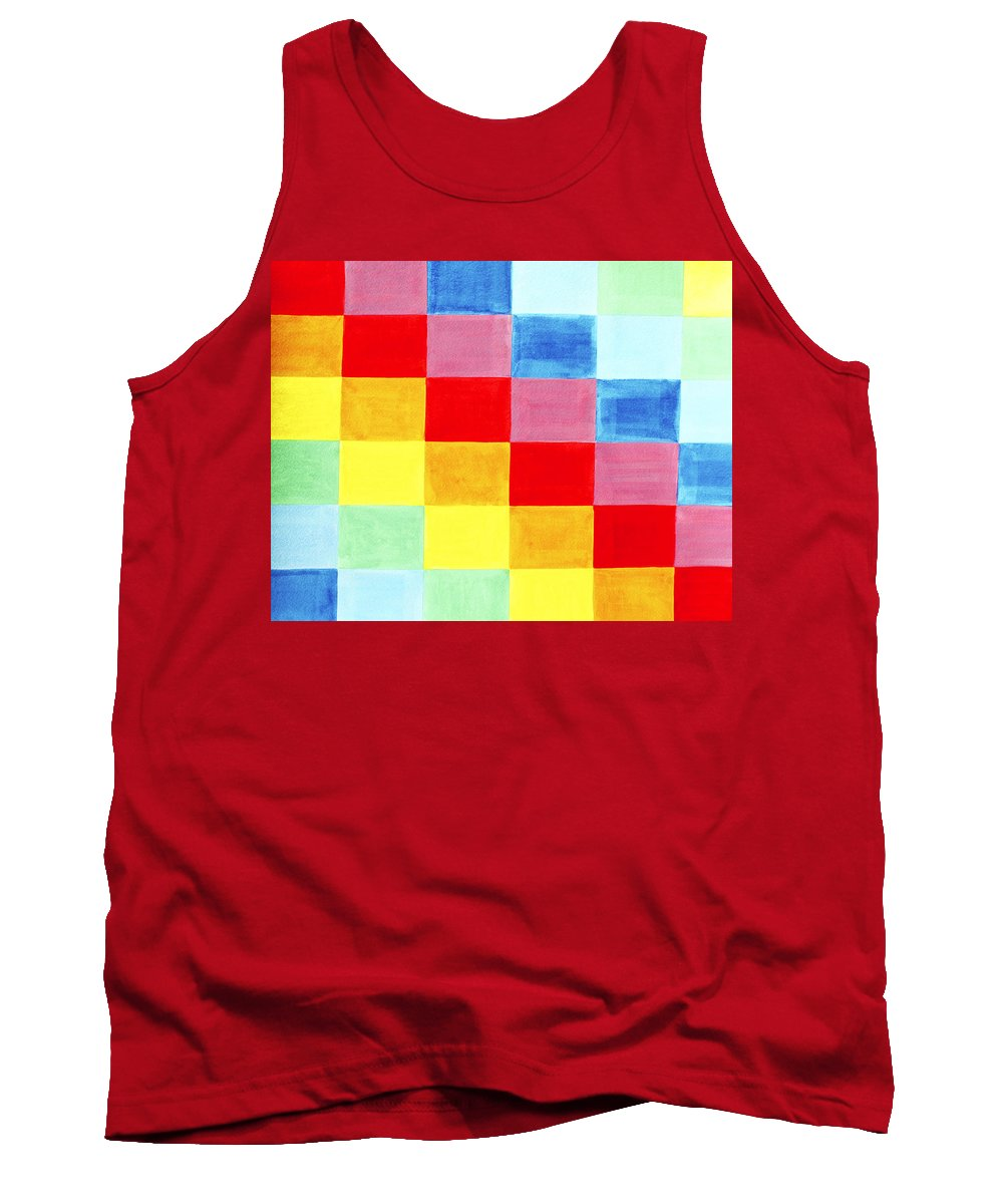 Abstract Tank Top featuring the painting Color Flag by Lee Serenethos