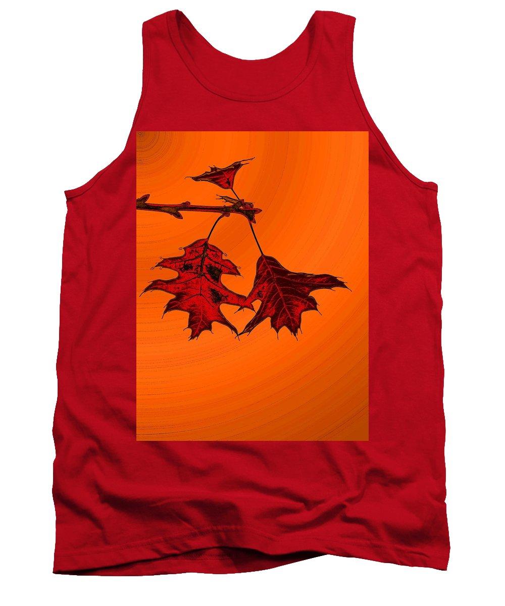 Autumn Tank Top featuring the digital art Color Me Autumn 2 by Tim Allen