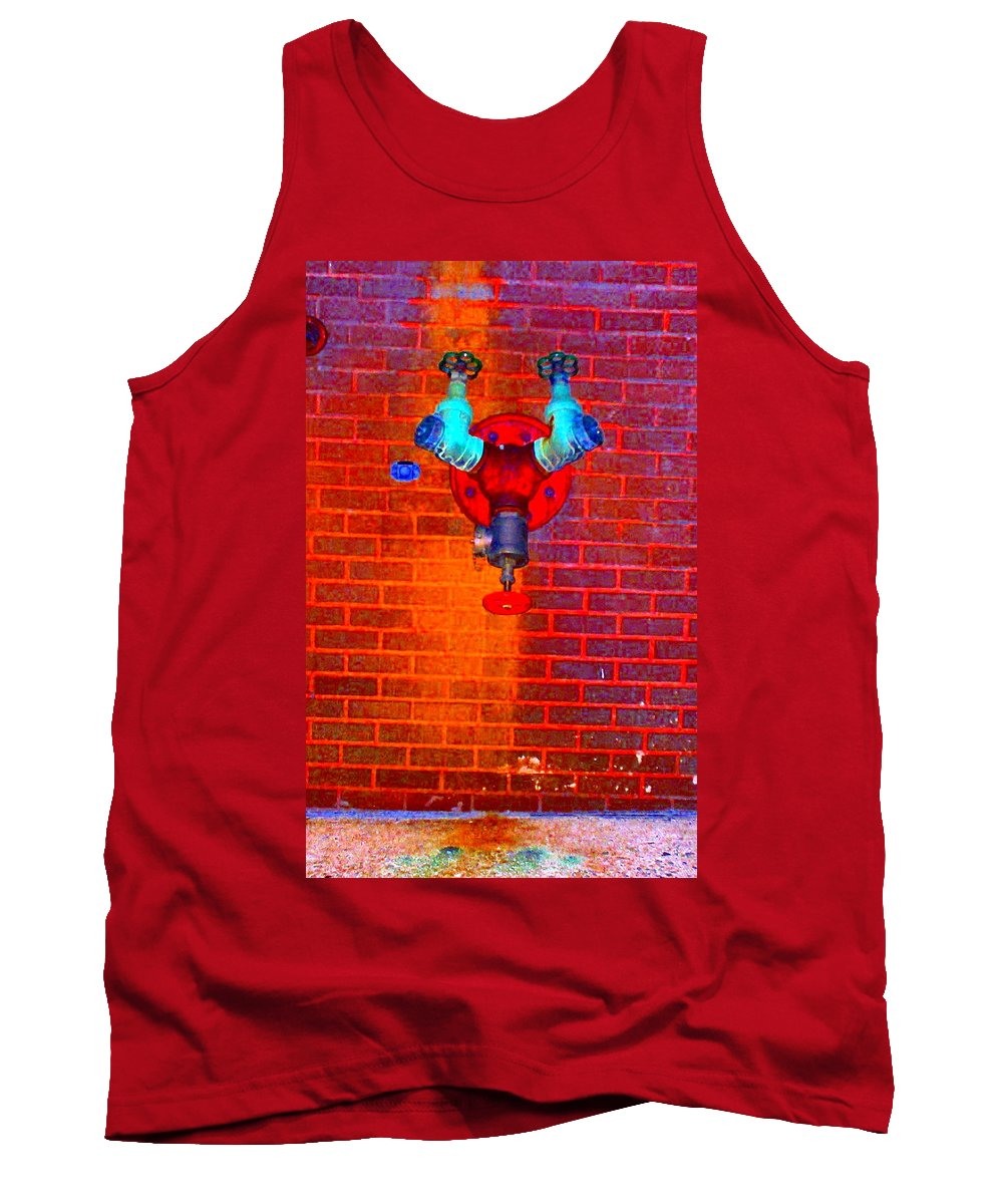 Color Photograph Tank Top featuring the photograph Color Pipe by Thomas Valentine