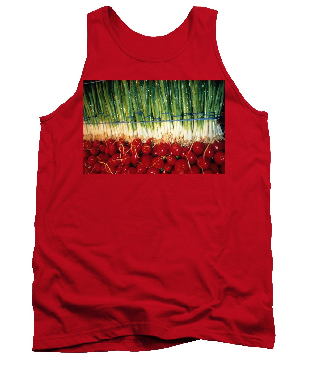 Vegetable Tank Top featuring the photograph Comlimentary Vegetables by Laurie Paci