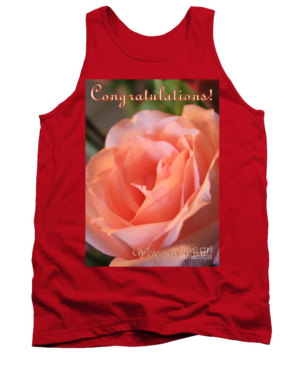 Congratulations Tank Top featuring the photograph Congratulations Card For Girl Or Woman by Carol Groenen