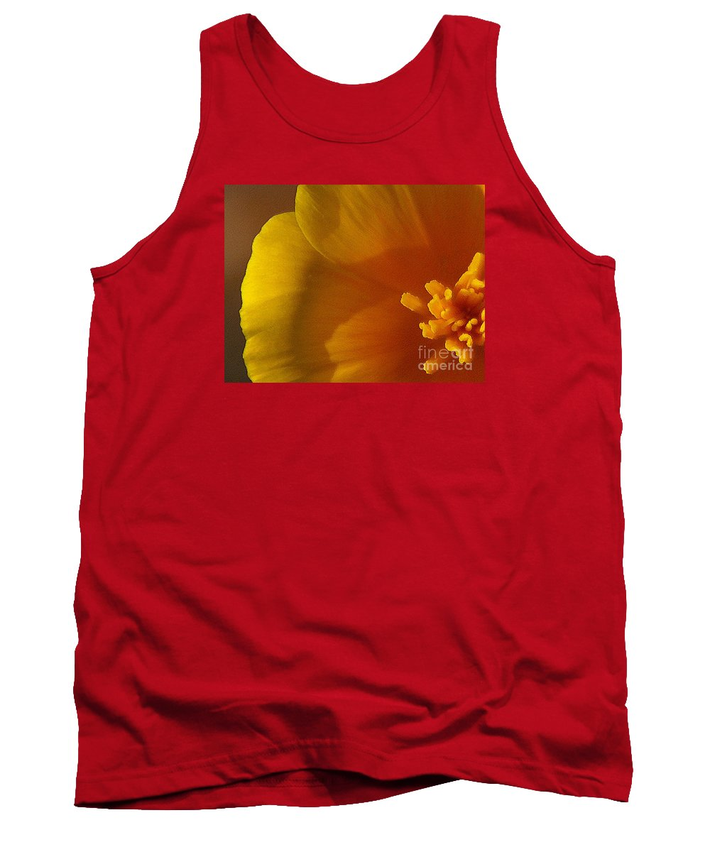 Poppy Tank Top featuring the photograph Copa De Oro - Subdued by Linda Shafer