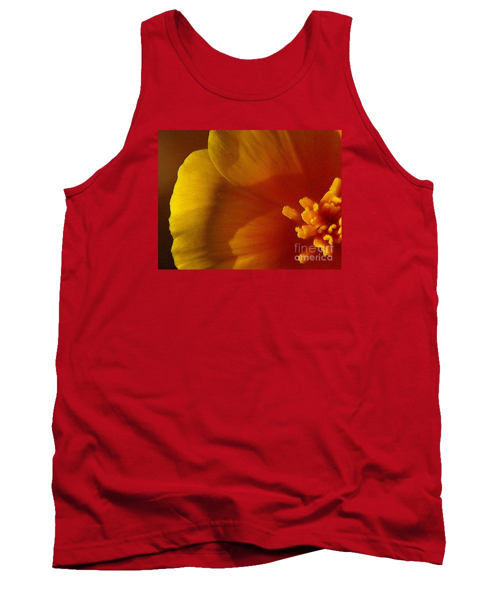 Poppy Tank Top featuring the photograph Copa De Oro - Vibrant by Linda Shafer