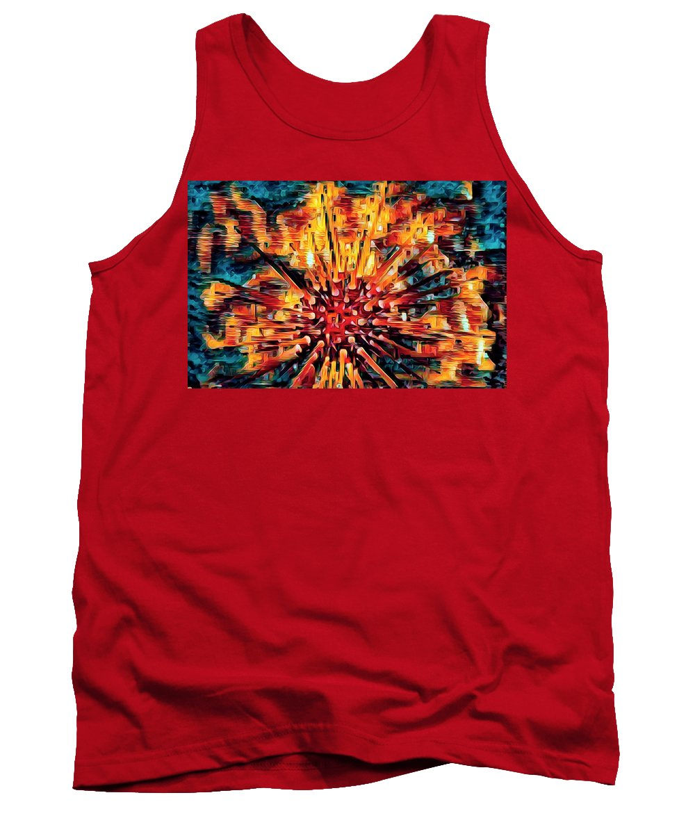 Florida Tank Top featuring the photograph Corals Under The Sea Abstract Color Art by Debra and Dave Vanderlaan
