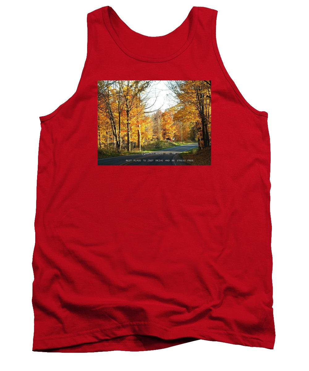 Road Tank Top featuring the photograph Country Roads by Beth Tidd