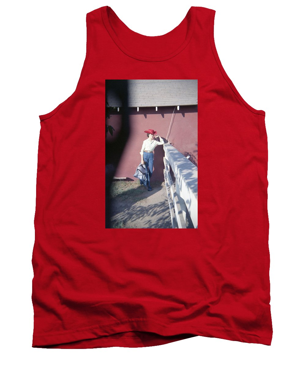 Cowgirls. Horses Tank Top featuring the photograph Cowgirl Mama by Betsy Mullenix