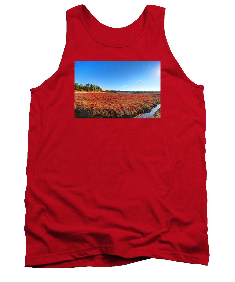 Cranberry Tank Top featuring the photograph Cranberries by Frank Nicolato