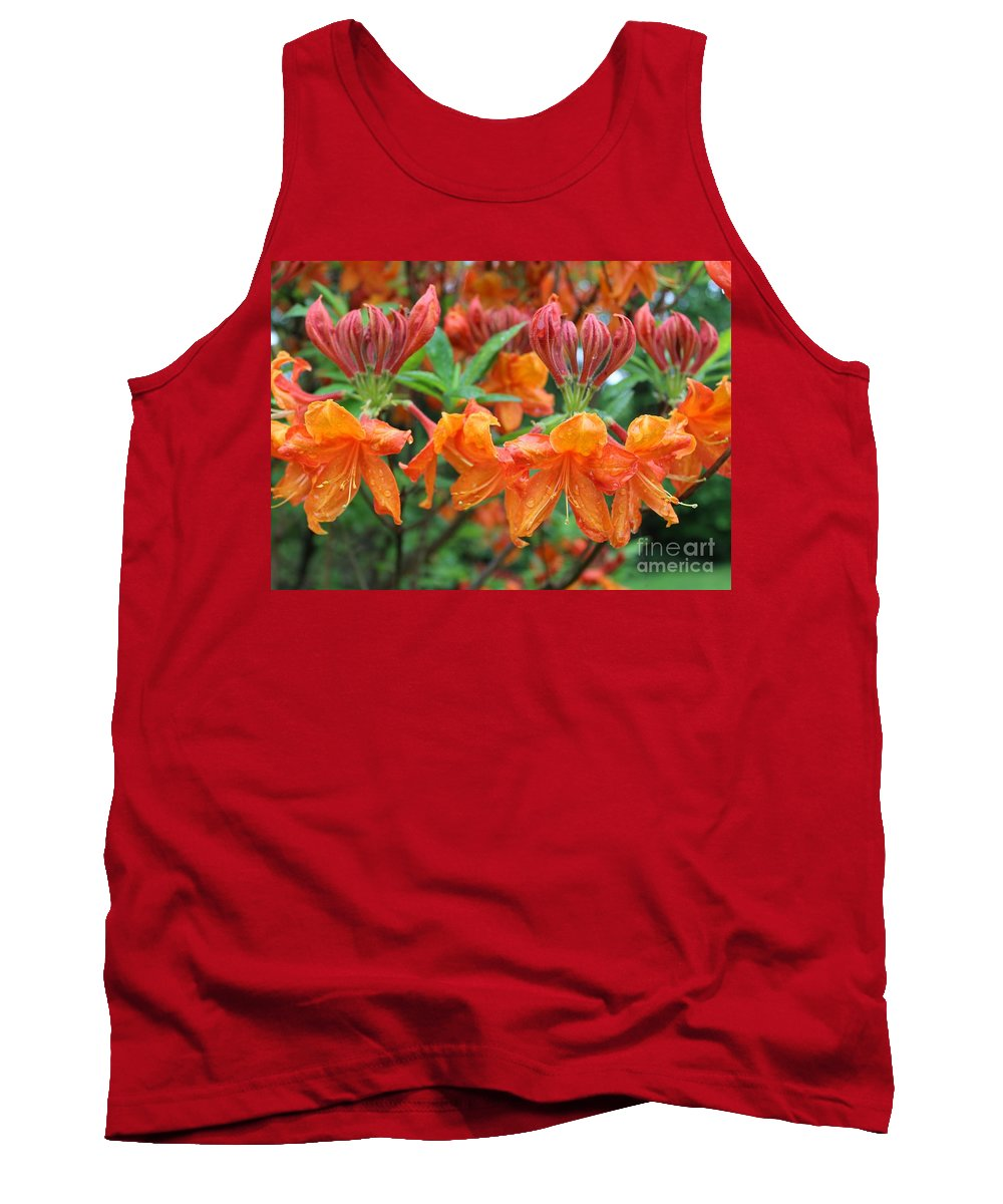 Mandarin Tank Top featuring the photograph Crowned Creamsicles by Anne Ditmars