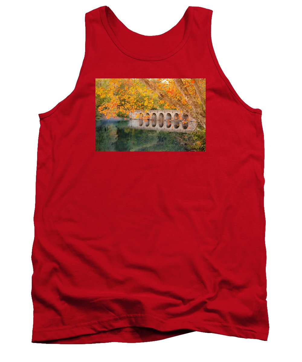 Oct 2015 Tank Top featuring the photograph Cumberland Mountain State Park Bridge by Debbie Karnes