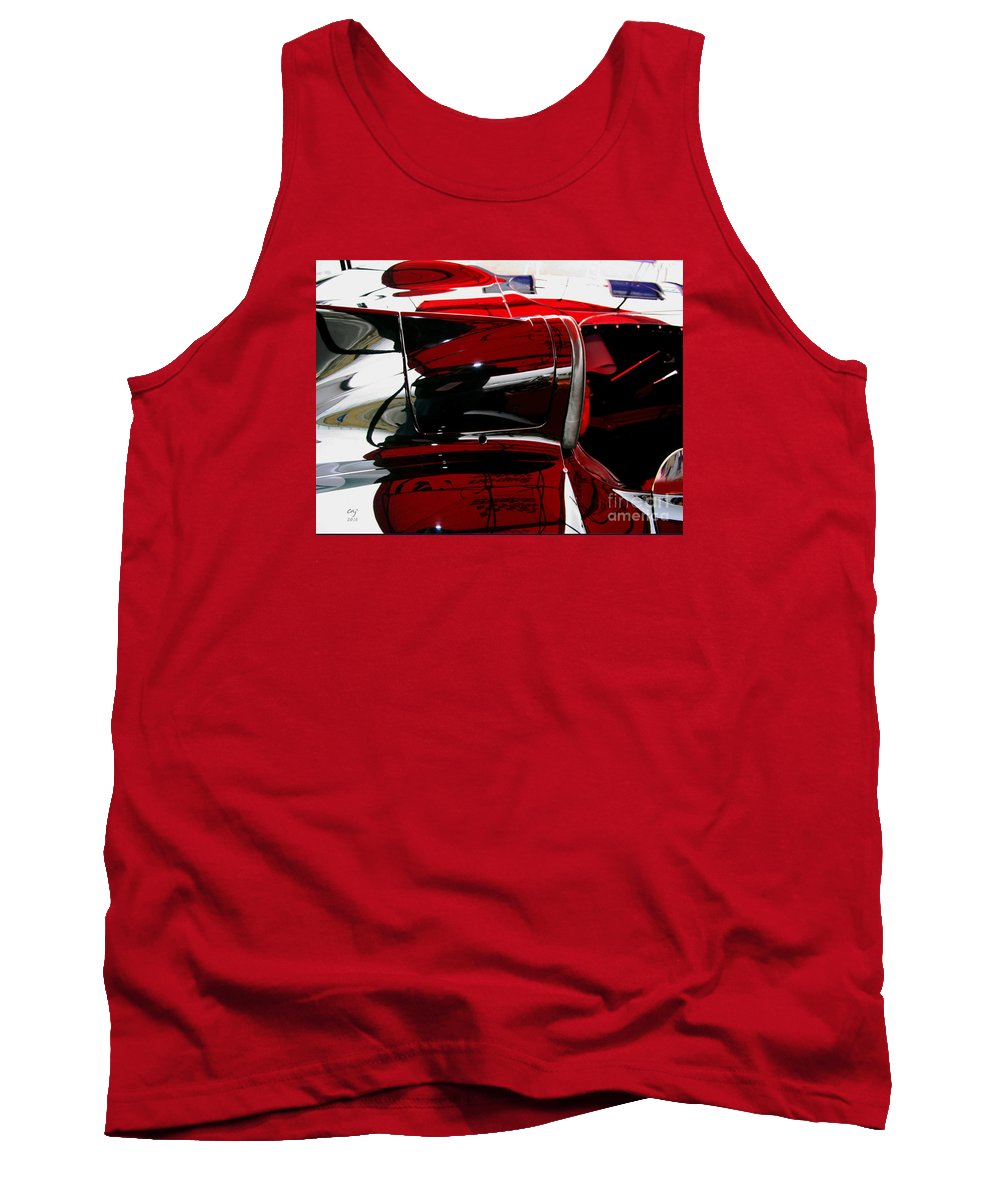 Jaguar D-type Tank Top featuring the photograph D Type Abstract by Curt Johnson