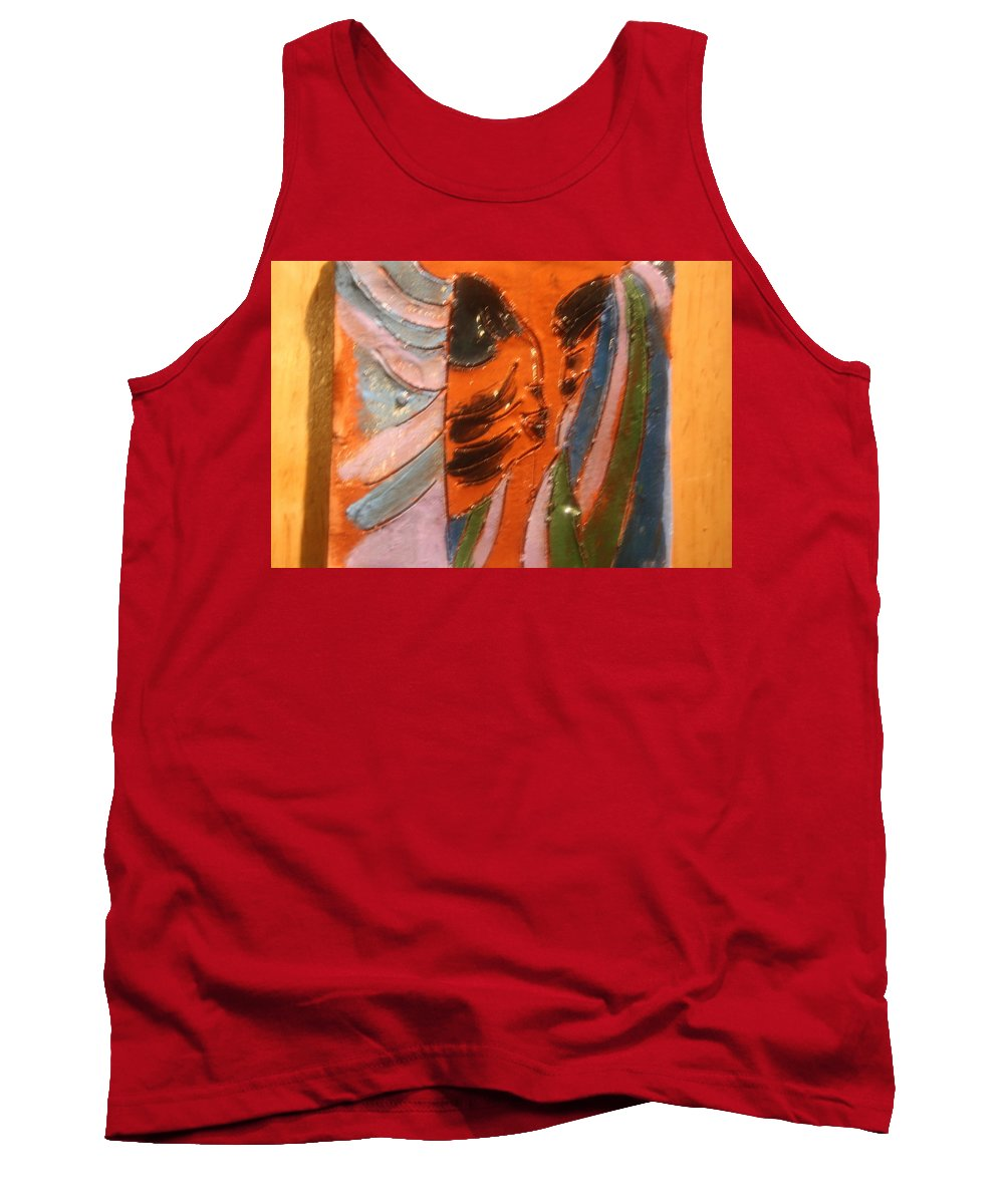 Jesus Tank Top featuring the ceramic art Dads Boy - Tile by Gloria Ssali