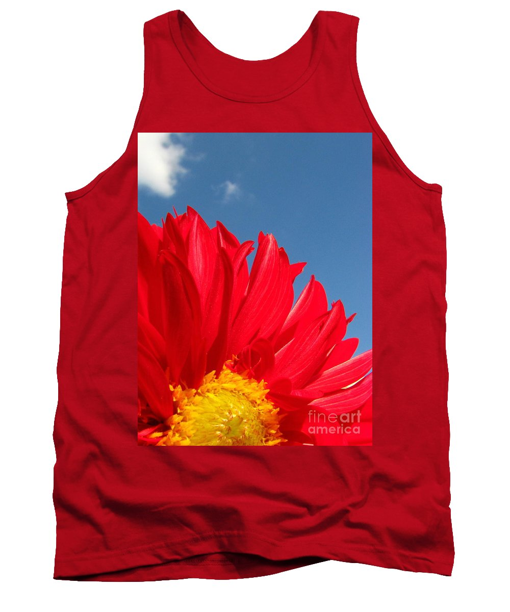 Dahlia Tank Top featuring the photograph Dahlia by Amanda Barcon