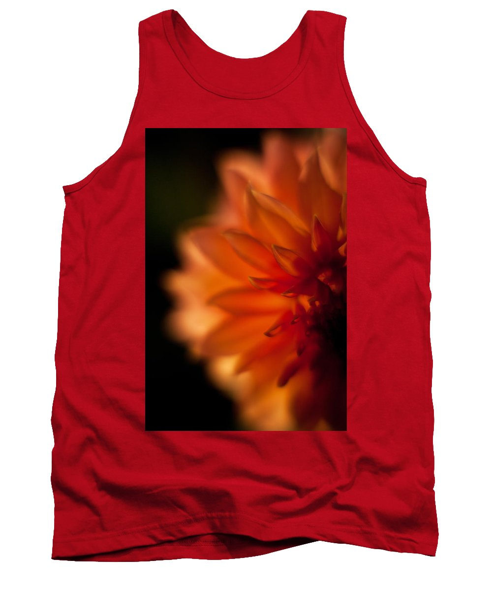 Dahlia Tank Top featuring the photograph Dahlia Fueur by Mike Reid