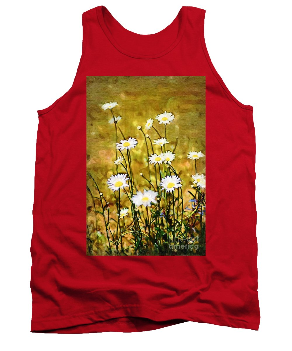 Daisy Tank Top featuring the photograph Daisy Field by Donna Bentley