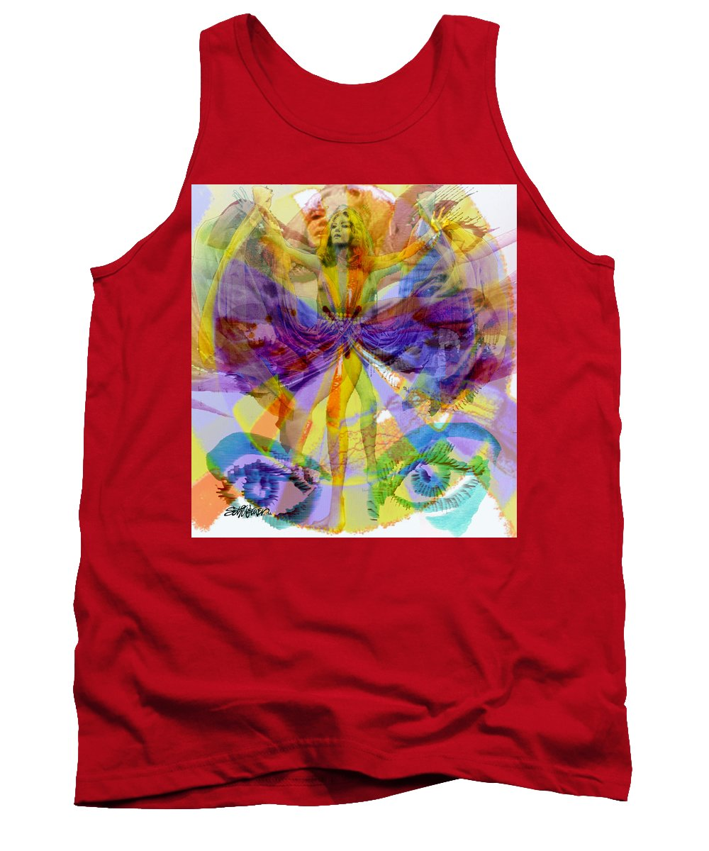Dance Of The Rainbow Tank Top featuring the digital art Dance Of The Rainbow by Seth Weaver