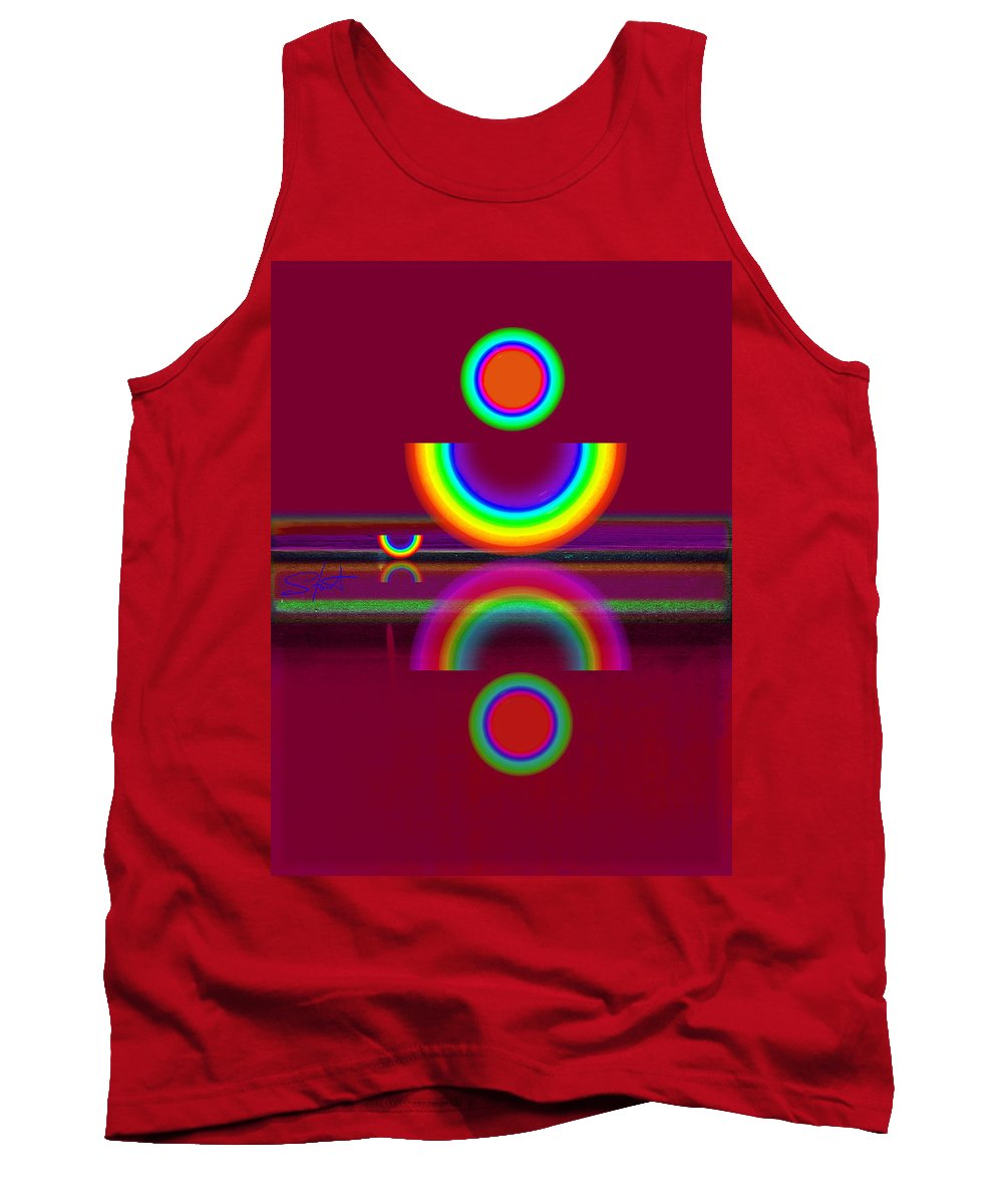 Reflections Tank Top featuring the painting Dark Heat by Charles Stuart