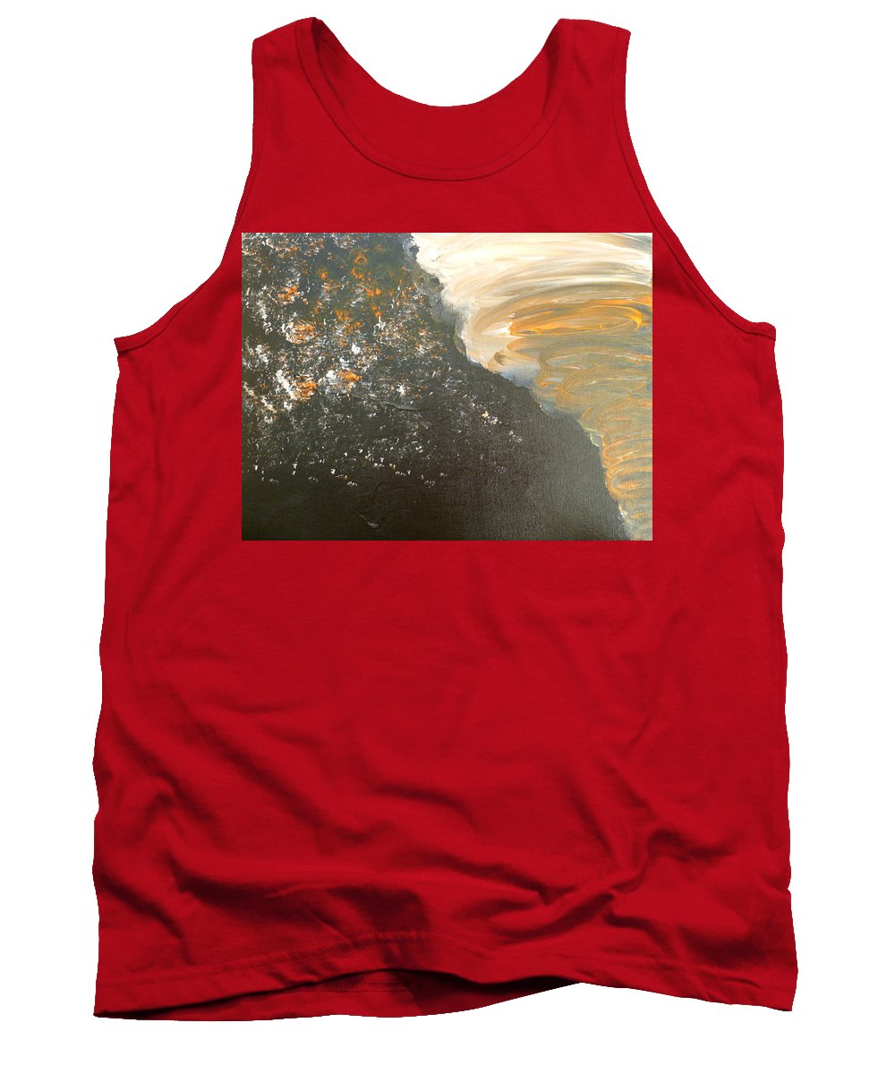 Dark Tank Top featuring the painting Dark Storm by Barbara Yearty