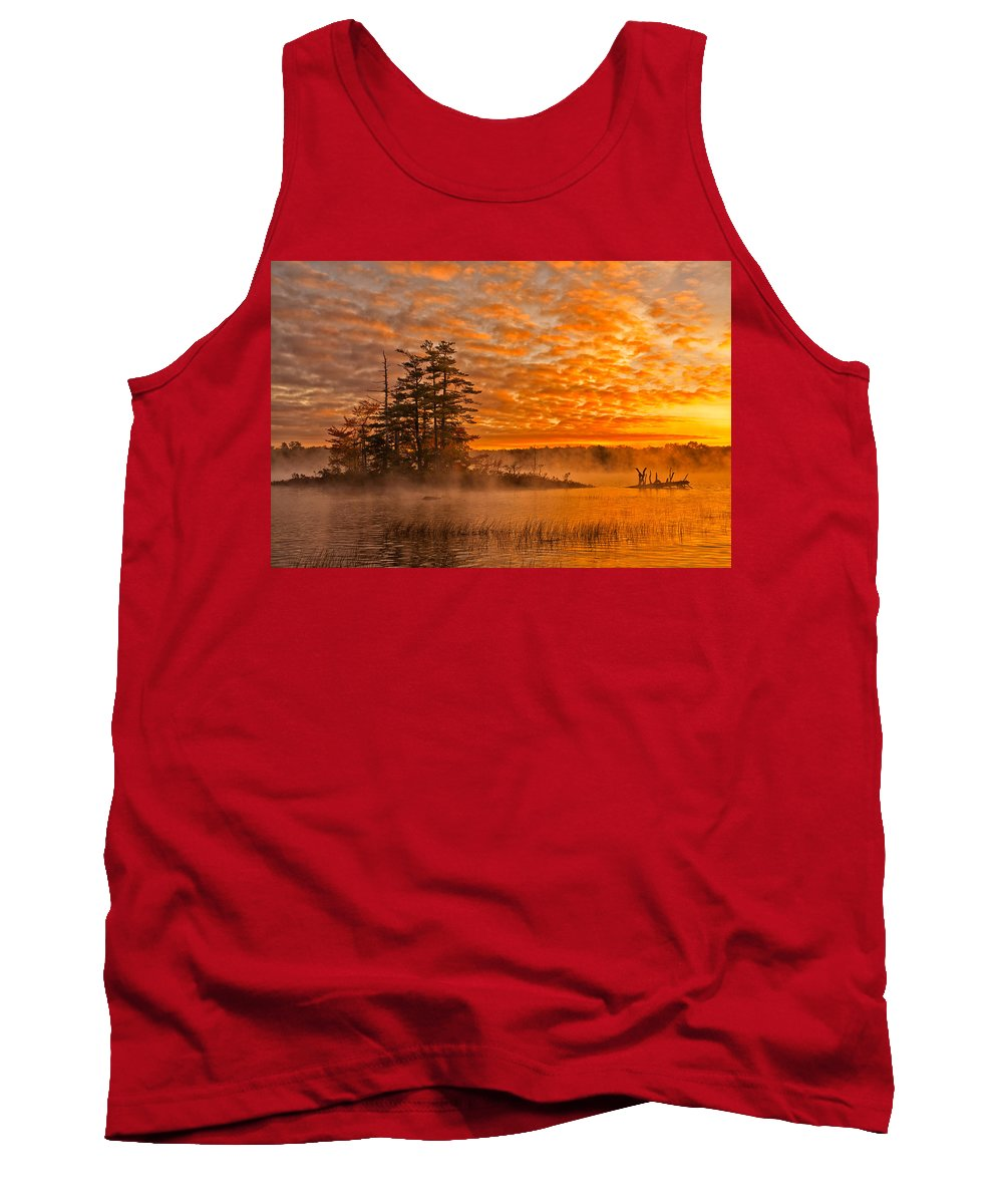 Dawn Tank Top featuring the photograph Dawn At Oakfield Provincial Park by Irwin Barrett