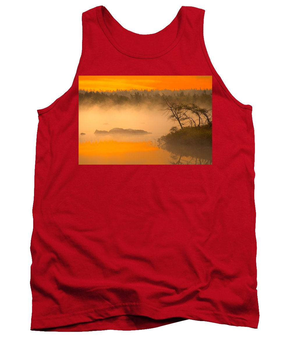 Dawn Sky Tank Top featuring the photograph Dawn Mists by Irwin Barrett