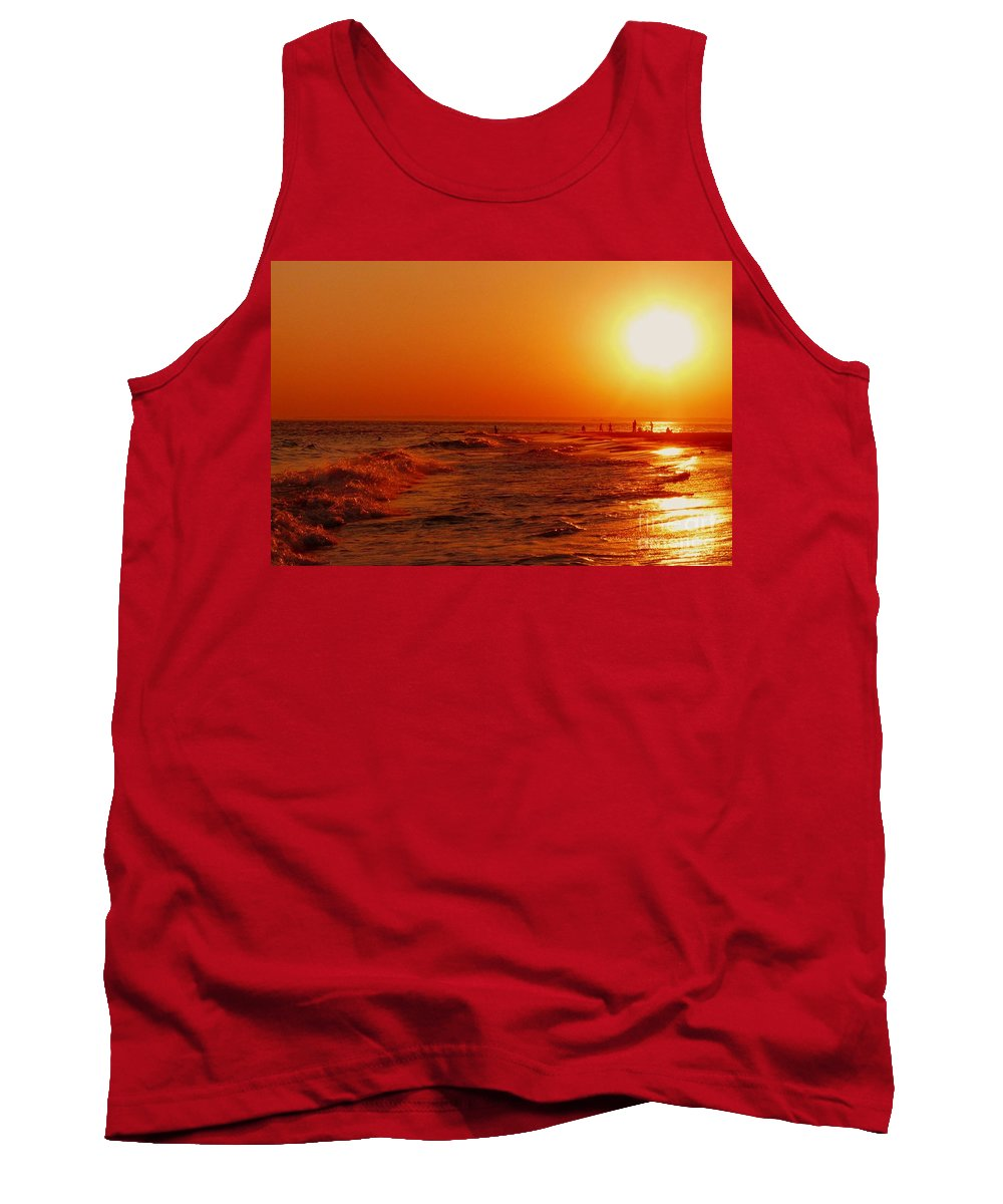 Sunset Tank Top featuring the photograph Day's End by Kendall Eutemey
