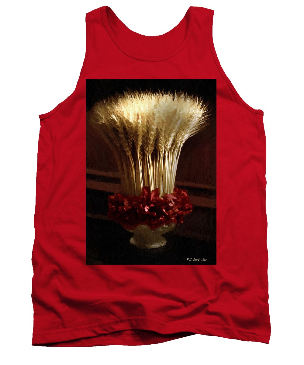 Still Life Tank Top featuring the painting Demeter's Bouquet by RC DeWinter
