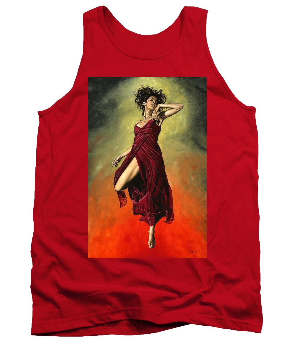 Dance Tank Top featuring the painting Destiny's Dance by Richard Young