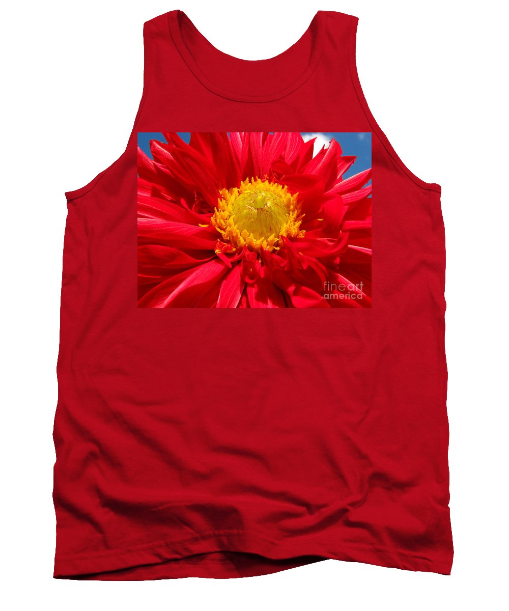 Dhalia Tank Top featuring the photograph Dhalia by Amanda Barcon