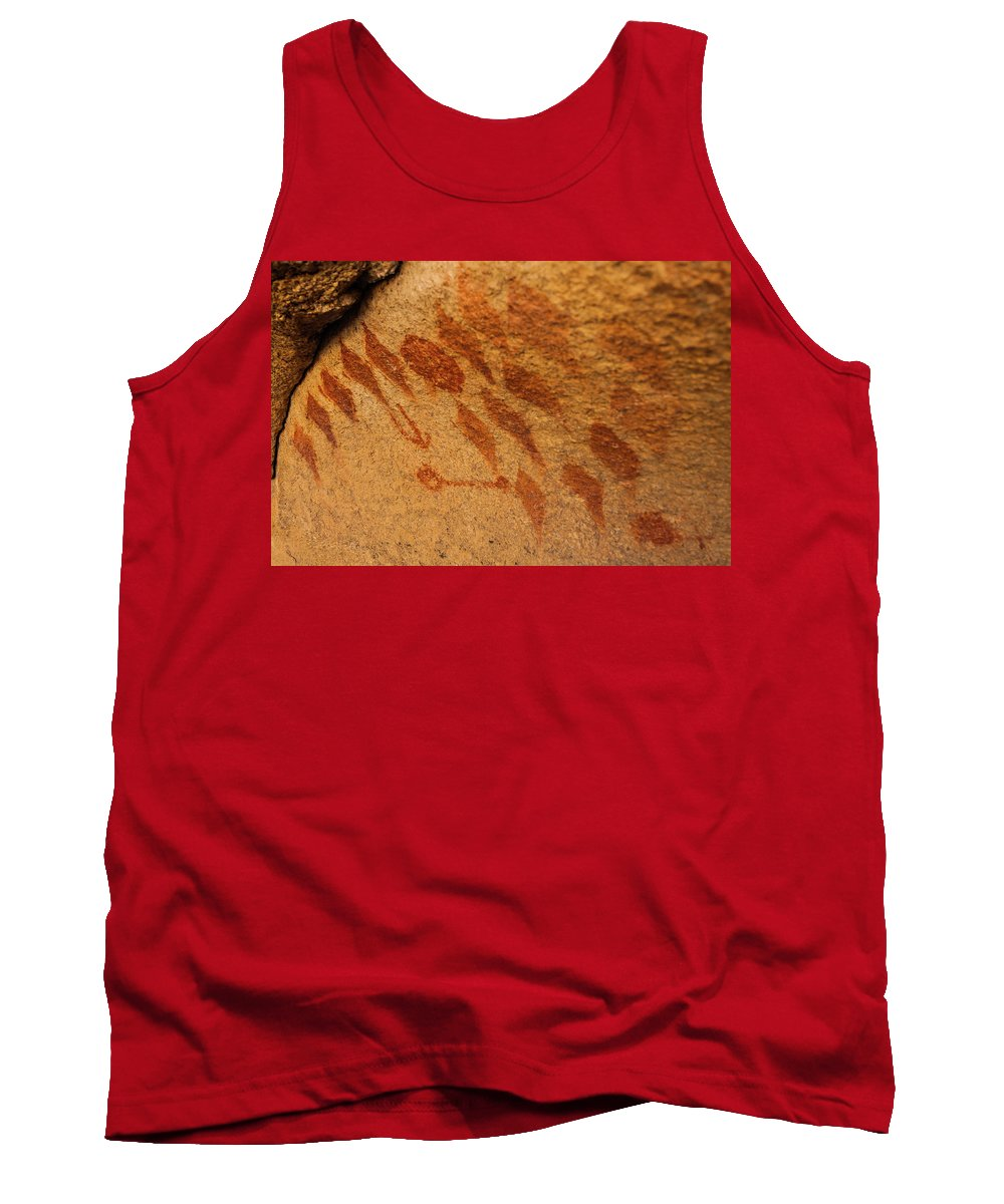 Joshua Tree National Park Tank Top featuring the photograph Diamond Pictographs by TM Schultze