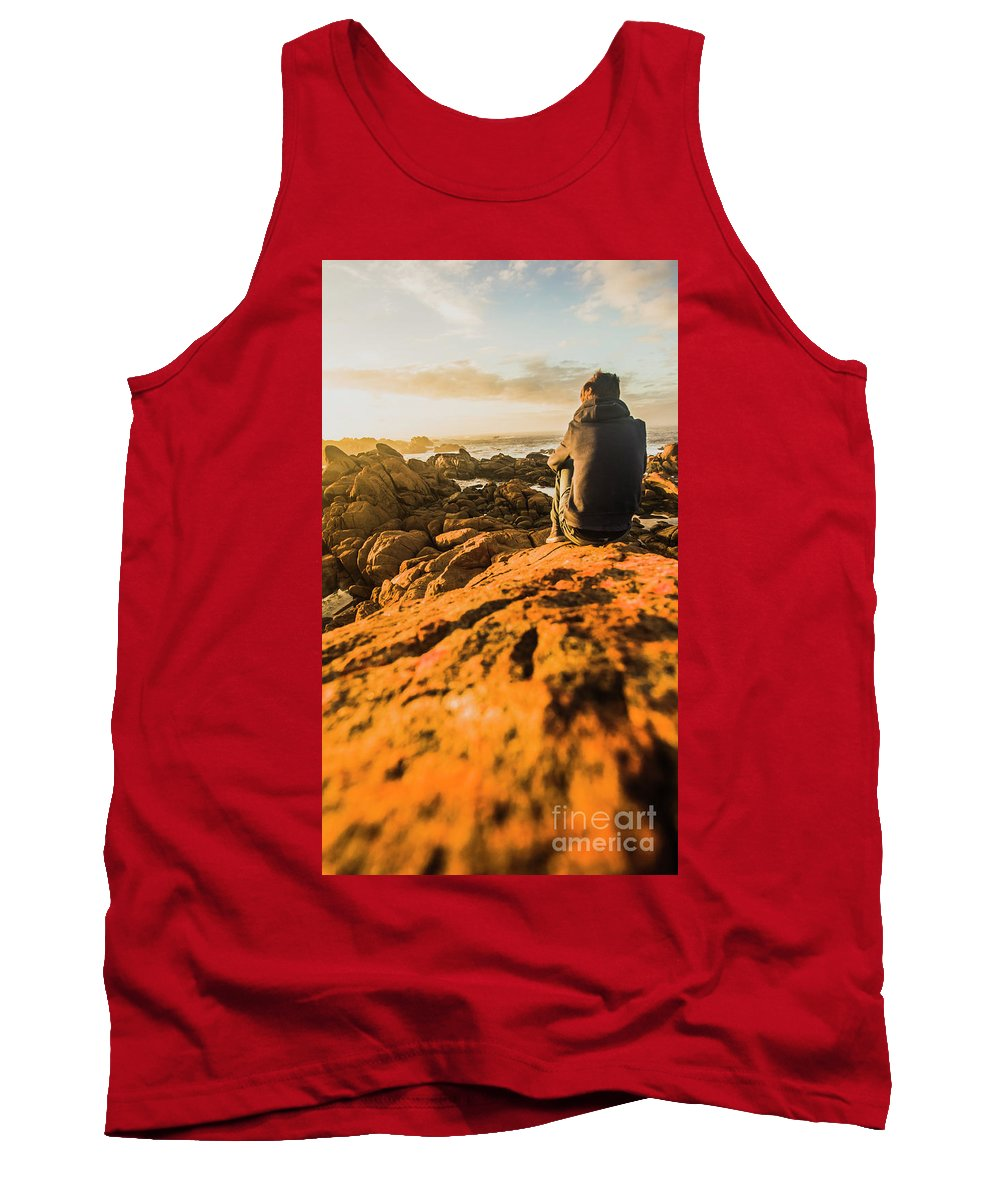 Beach Tank Top featuring the photograph Discovering Wonderful Tasmania by Jorgo Photography - Wall Art Gallery