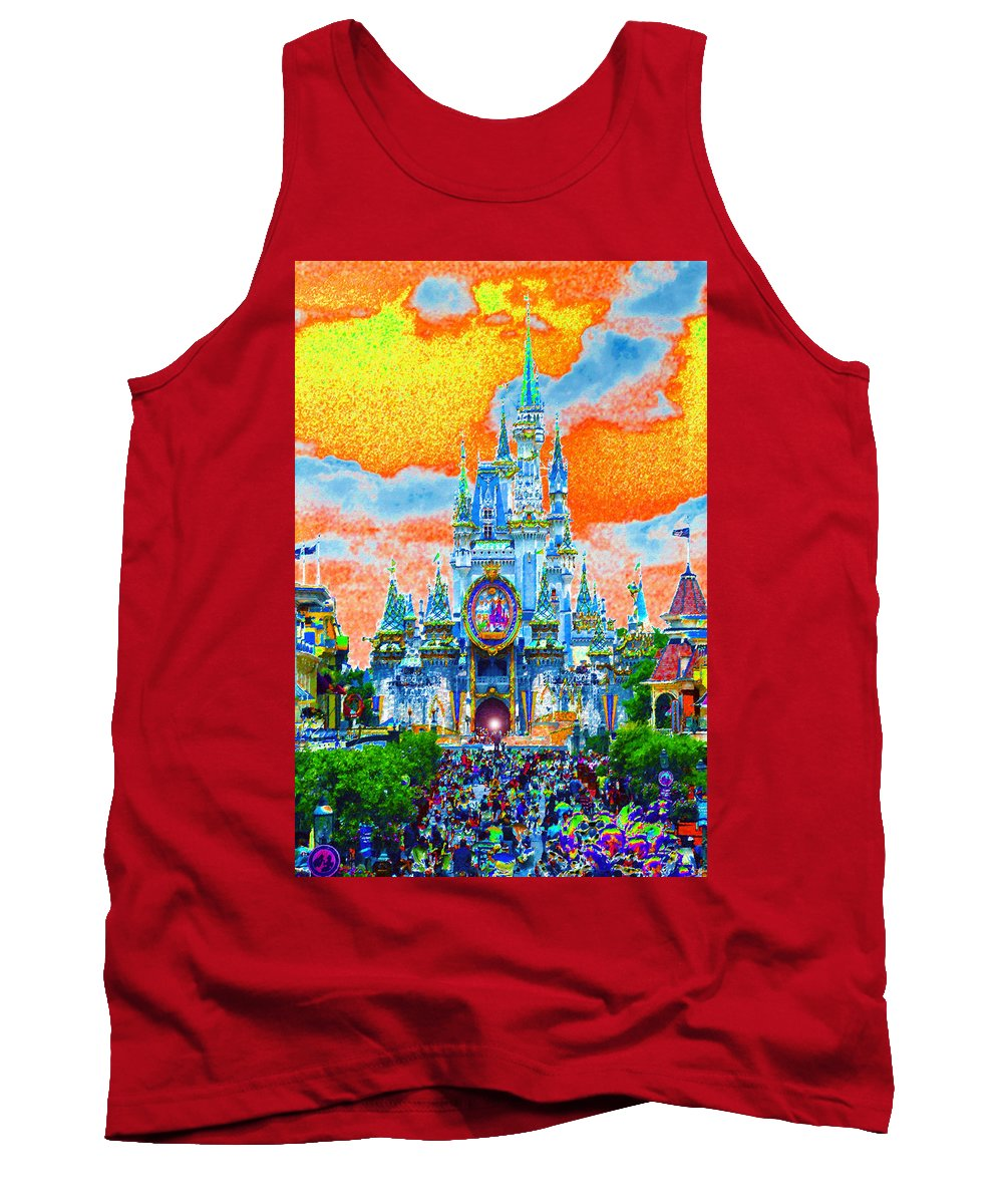 Art Tank Top featuring the painting Disney At Fifty by David Lee Thompson