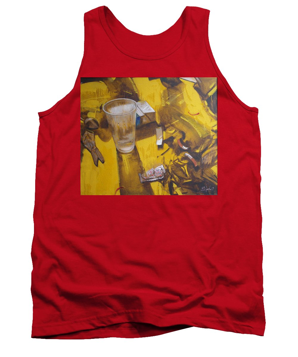 Disposable Tank Top featuring the painting Disposable by Sergey Ignatenko