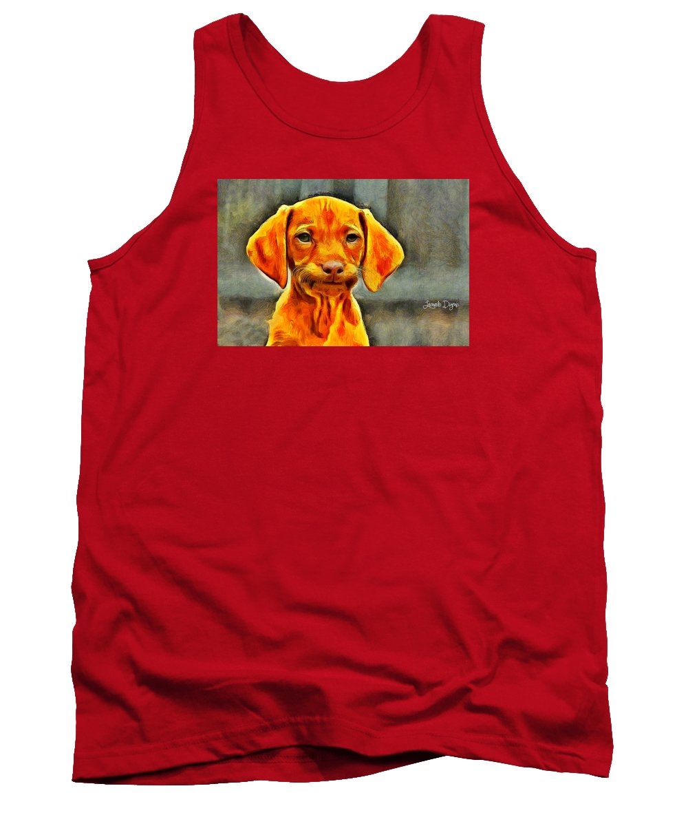 Affection Tank Top featuring the painting Dog Friend by Leonardo Digenio
