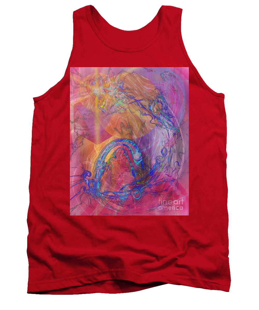 Dragon's Tale Tank Top featuring the digital art Dragon's Tale by John Beck
