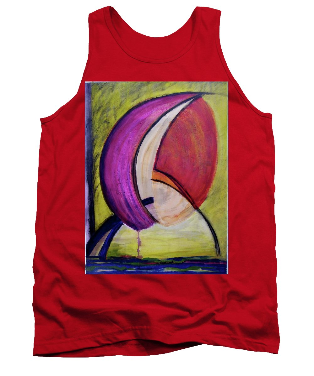Encaustic Tank Top featuring the painting Dripping by Suzanne Udell Levinger