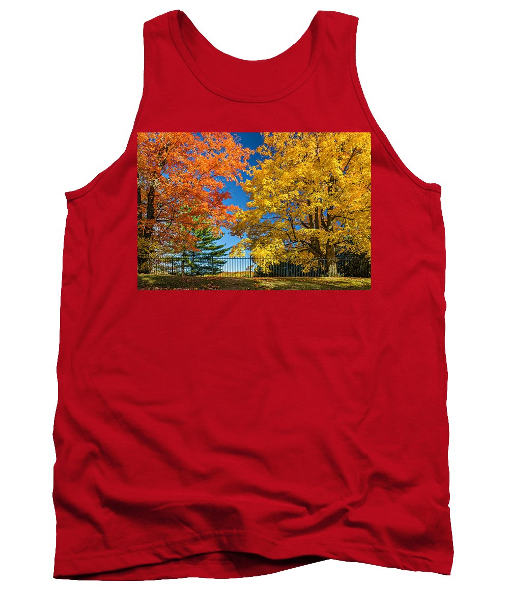 Maples Tank Top featuring the photograph Dueling Maples by Steve Harrington