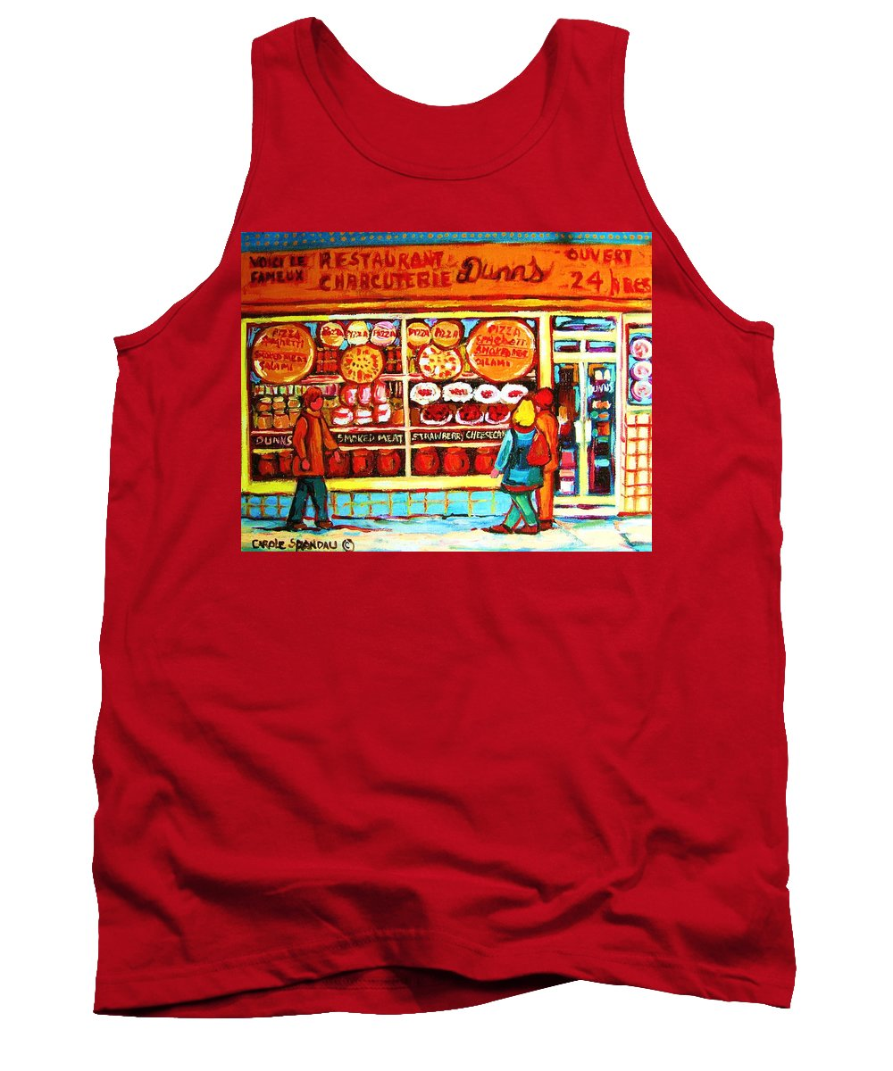 Montreal Tank Top featuring the painting Dunn's Treats And Sweets by Carole Spandau