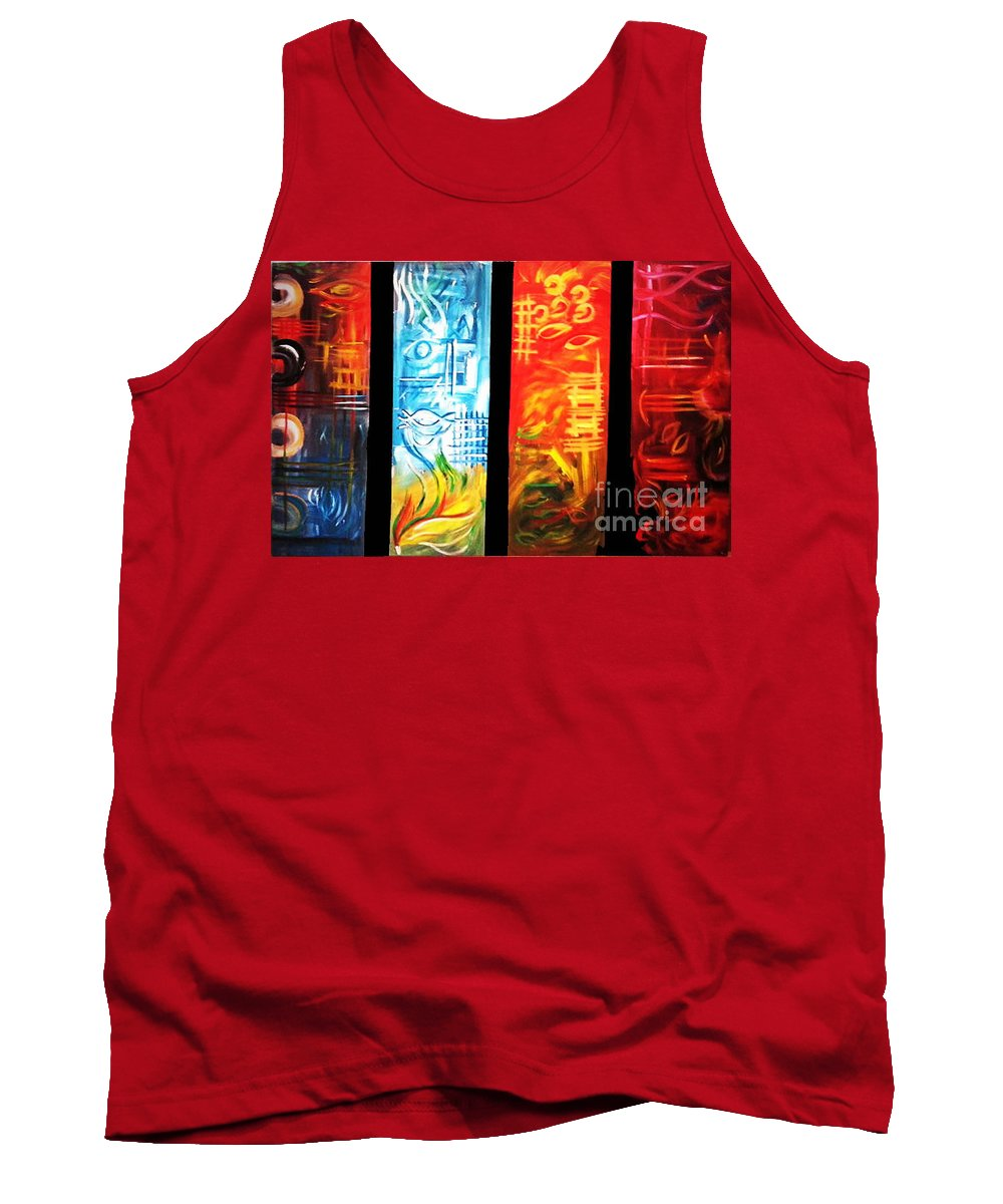 Art Tank Top featuring the painting Elements by Nour Refaat
