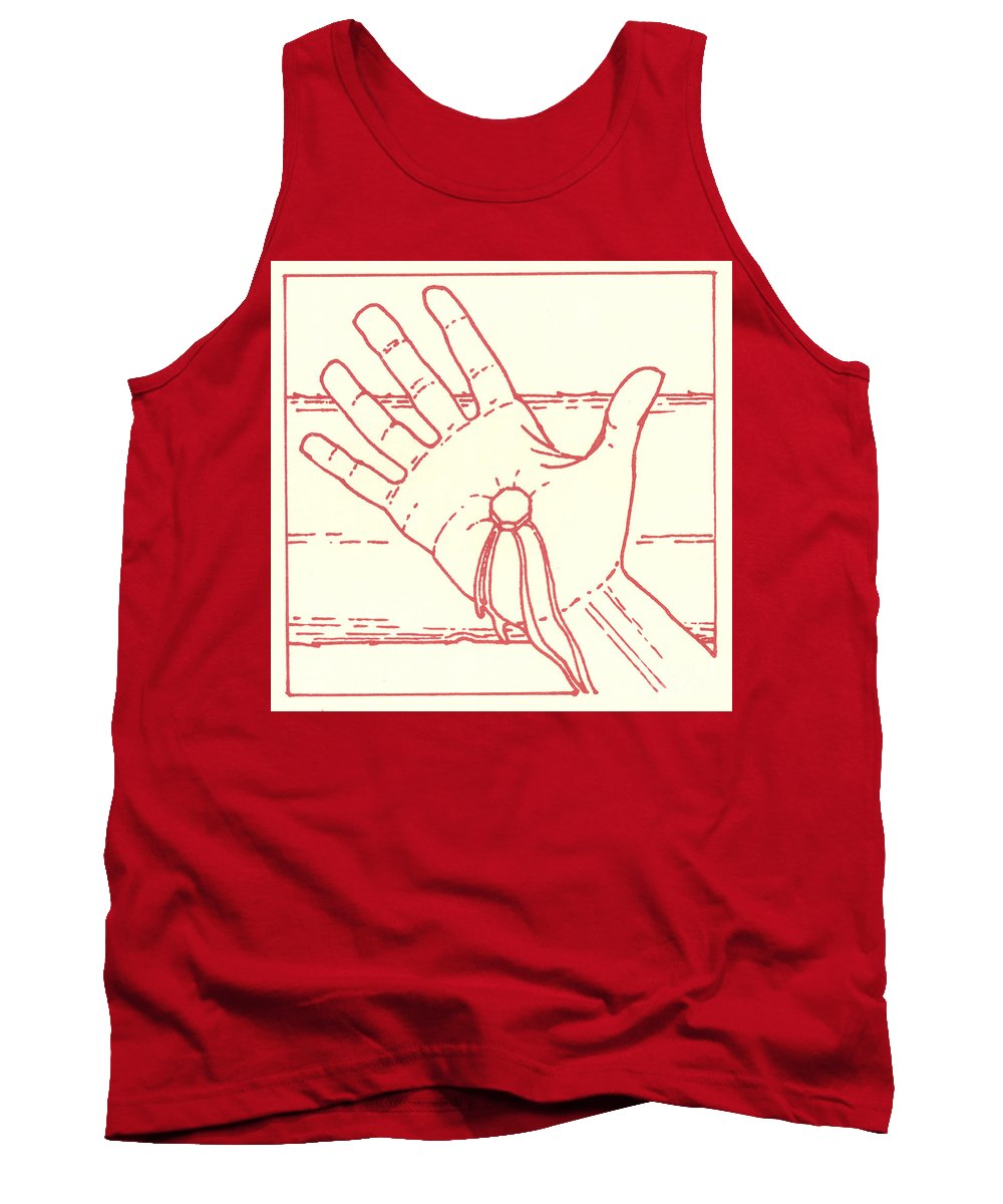 Tank Top featuring the drawing Eleventh Station- Jesus Is Nailed To The Cross by William Hart McNichols