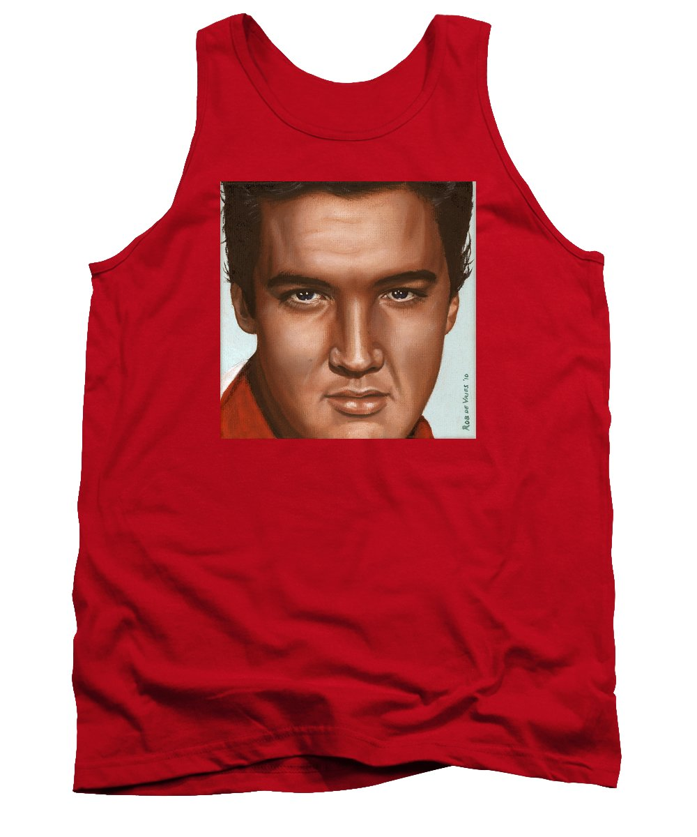 Elvis Tank Top featuring the painting Elvis 24 1958 by Rob De Vries