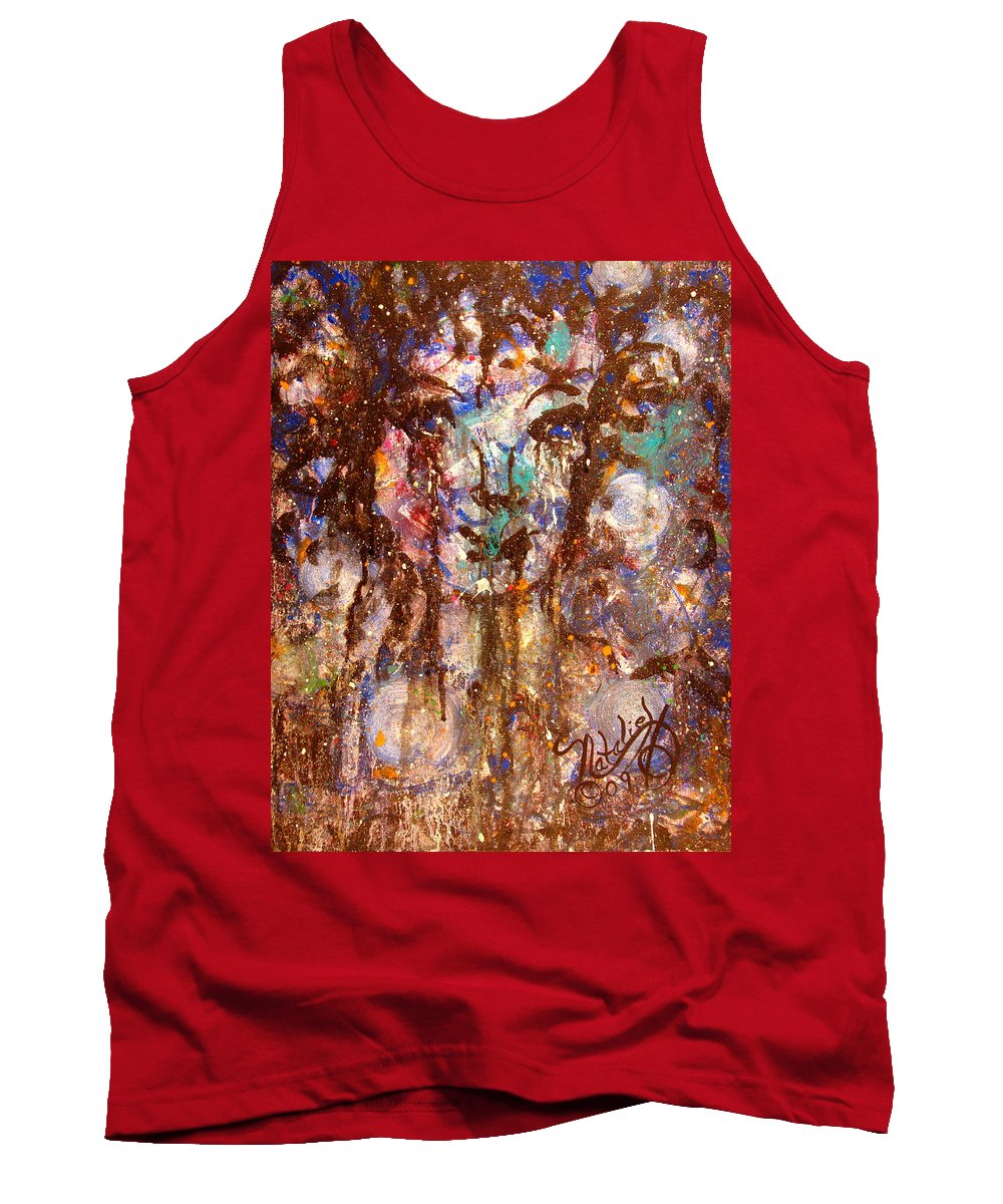 Expressionism Tank Top featuring the painting Emotional Encounter by Natalie Holland