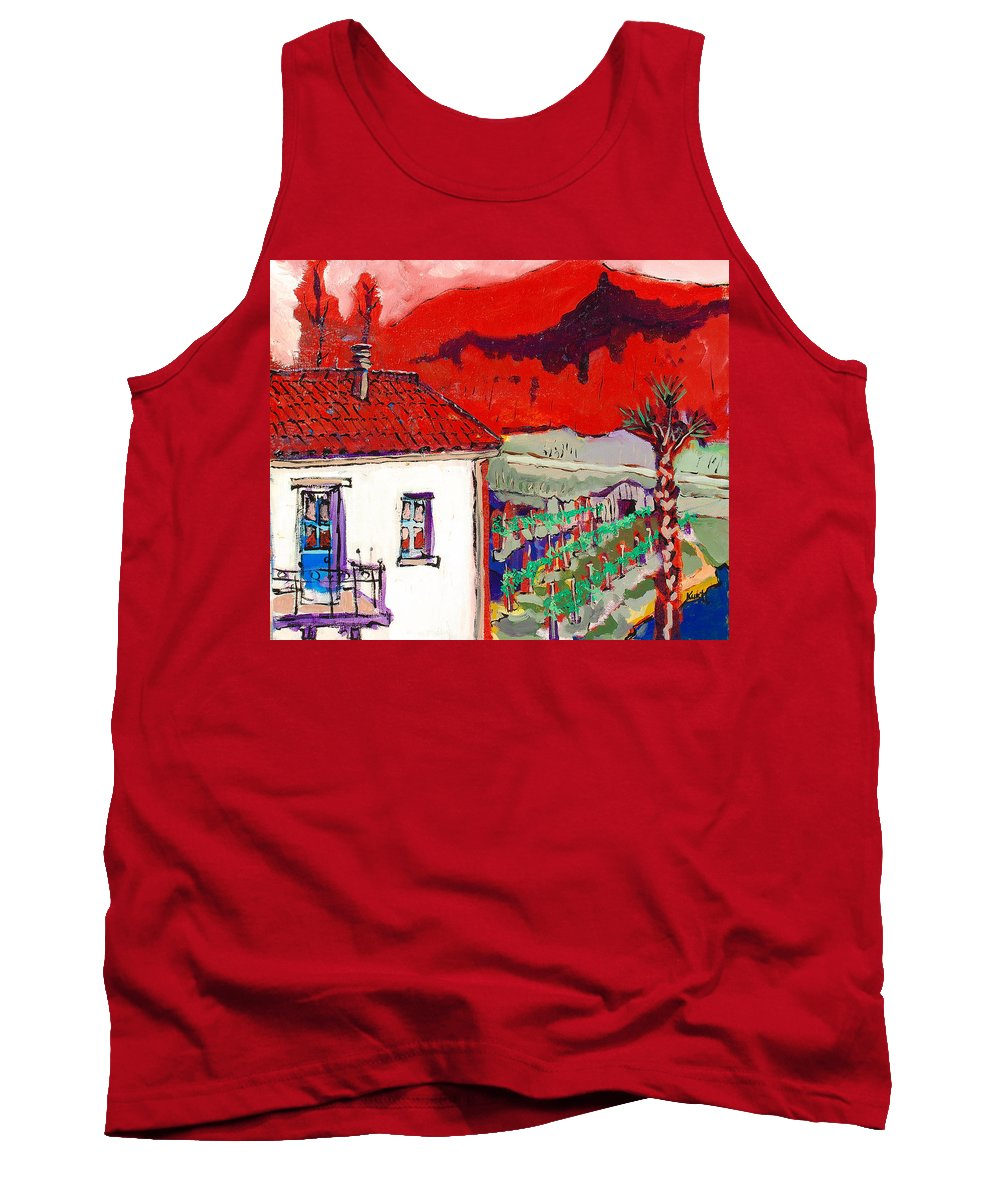 Tank Top featuring the painting Enrico's View by Kurt Hausmann