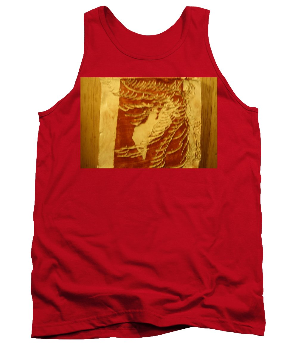 Jesus Tank Top featuring the ceramic art Eruptions Of The Mind - Tile by Gloria Ssali