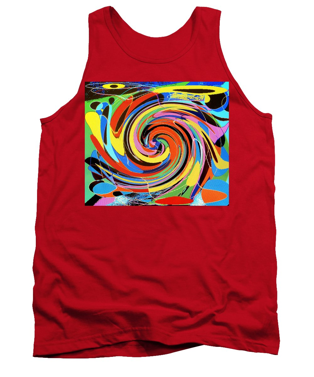 Tank Top featuring the digital art Escaping The Vortex by Ian MacDonald