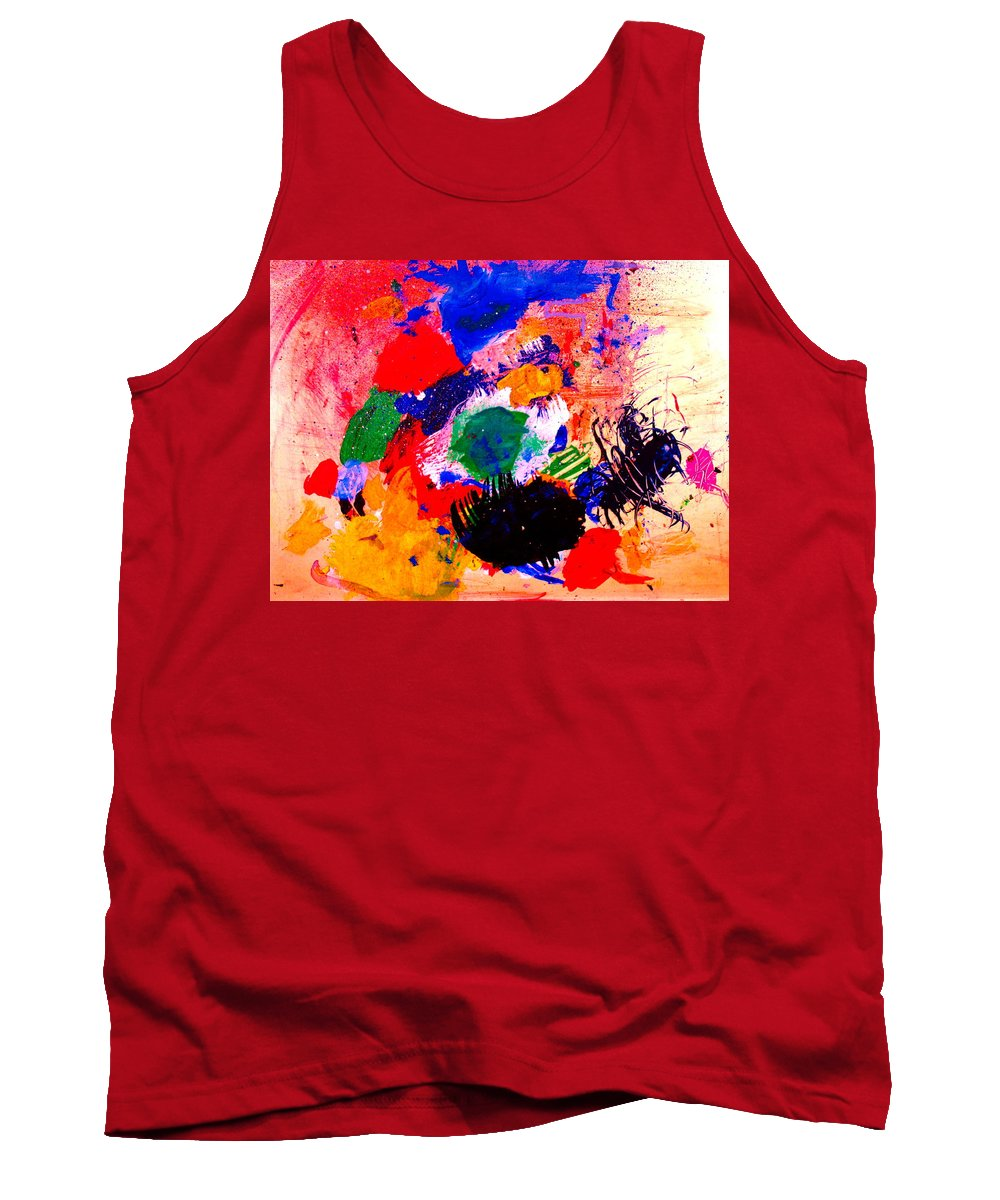 Abstract Tank Top featuring the painting Evolving Evolution by Natalie Holland